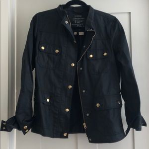 Jcrew black relaxed fit jacket w/ gold buttons (M)